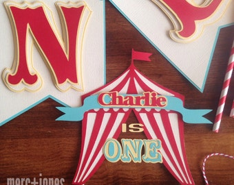 Circus + Carnival Themed Cake Topper