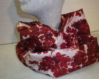 roterSchlauchschal - Acethatschal - red white loop - handmade scarf - Green