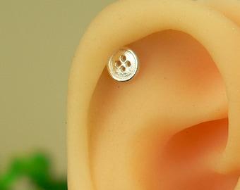 cartilage earring, cartilage stud earring, cute cartilage earring, helix earring,sterling silver earring 20g, helix piercing