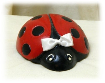 """Hand Crafted """"LADY BUG"""" Paper Weight"""