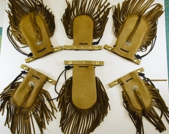 Fringed Leather Cell Phone Pouch