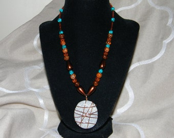 Multicolor Stone Wrapped Necklace