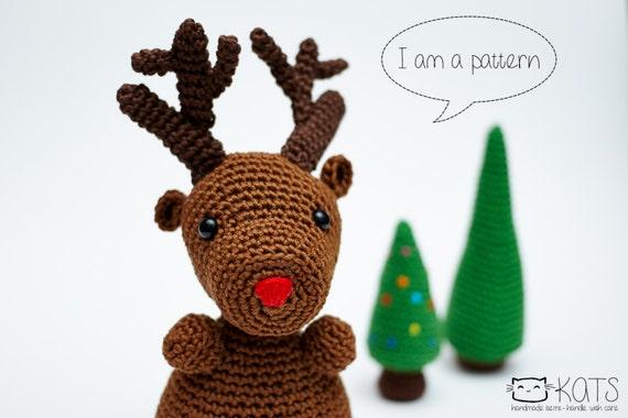 Rudy Reindeer Amigurumi : Rudolph The Reindeer Amigurumi Pattern Reindeer Crochet