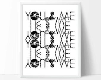 Wedding Print, Typographic print, romantic print, printable wall art, downloadable prints, quote print, word art, love, anniversary, gift,