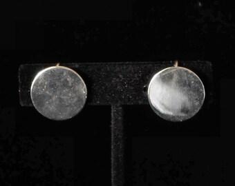 signed Beau Vintage Sterling Earrings Screw-Back