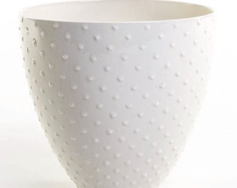 Large ceramic bowl with dotted design