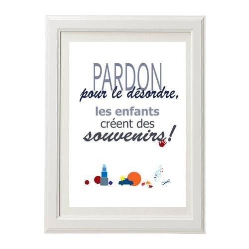 Affiche imprimer humour pardon pour le d sordre imprimable - Tableau humoristique pour wc ...