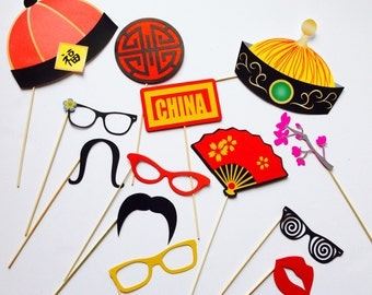 Chinese party photo props
