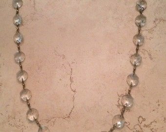 Vintage Crystal Necklace Costume Jewelry