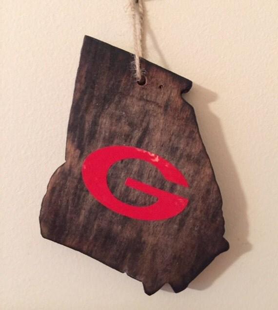 Georgia Bulldogs Ornaments By Kenlyscreations On Etsy