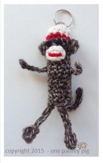 Sock Monkey Lip Balm Holder - PDF CROCHET PATTERN for Tube