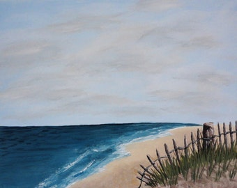 The Ocean View. Acrylic on 14x11 gallery wrapped canvas.