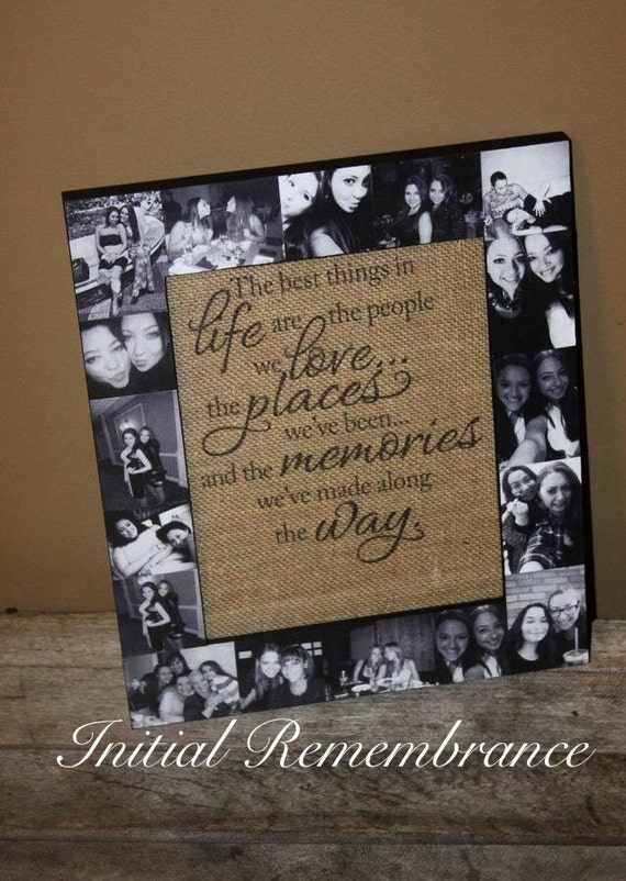 Picture frame collage photo frame best friend gift for Best place to get picture frames