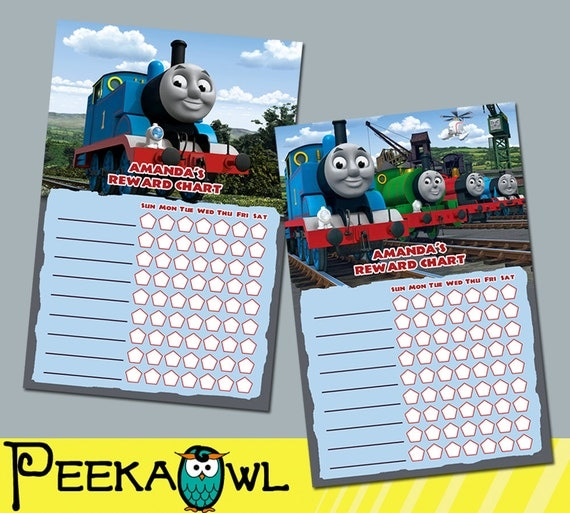 thomas the train potty chart