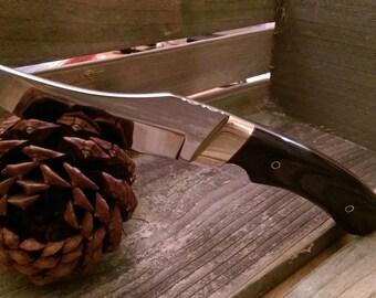 Ebony skinning knife