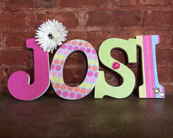 Custom decorative wooden letters, wooden names, girls room, nursery decor