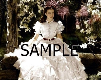 Gone With The Wind *Scarlett* Fabric Art Quilt  Block GWTW34- FREE SHIPPING
