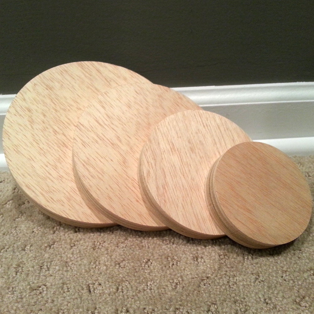 Plywood circles custom cut wood circles 5 inch diameter for How to slice wood