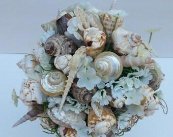 SEASIDE BEACH WEDDING-Wedding Bouquet -Wedding Flowers-Seashell Bouquet-Destination Wedding-Seashell Wedding-Bridal Bouquet