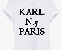 T Shirt  Lagerfeld Logo Design * Karl Tshirt Unisex Fashion tee 100% Soft Cotton