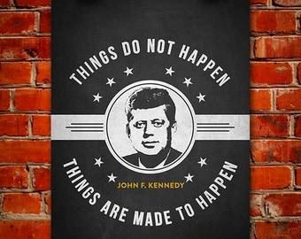 John F. Kennedy Poster, Home Decor, Gift Idea