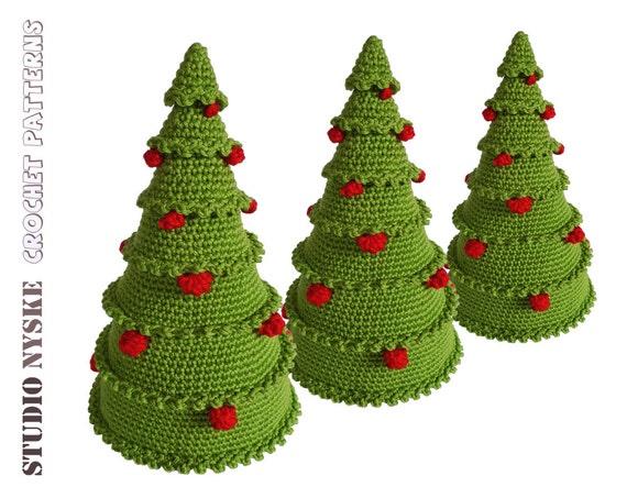 Christmas crochet PATTERN amigurumi tree with balls by ...