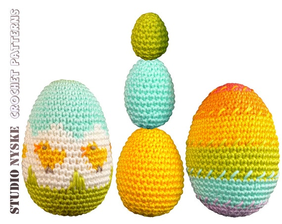 Amigurumi Easter Eggs Crochet Pattern : Easter egg PATTERN deal 5 different eggs amigurumi by ...