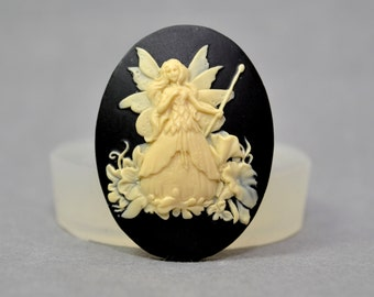 Fairy  Cameo Flexible Mold Mould For Resin Polymer Clay Chocolate Food Safe Silicone no.6