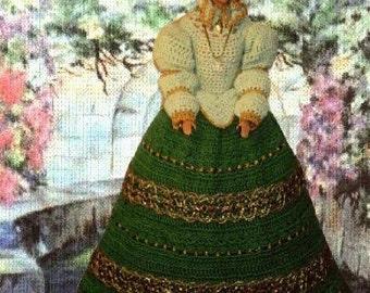 Crochet Fashion Doll Barbie Pattern- #173 THE PALAIS GARDEN walk