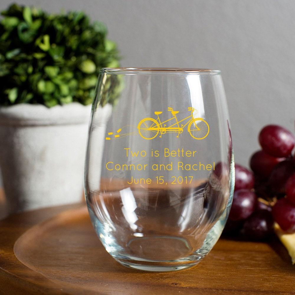 Wedding favor 15oz stemless wine glasses just - Stemless wine goblets ...