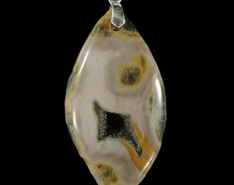 CA02506# Ocean Jasper Pendant, Ocean Jasper Gemstone Necklace With a Sterling Silver Clasp , Gemstone Pendant