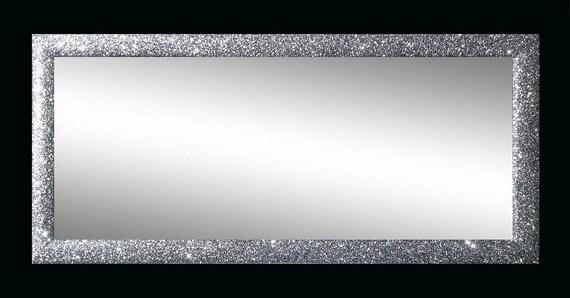 Specchiera 60x110 cornice stondata da 5 cm brillantini by - Specchio cornice nera ...
