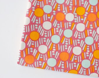 marsala dot fabric   Dew on Grass Ground, Morning Walk by Leah Duncan for Art Gallery fabric by the yard, pantone color of the year