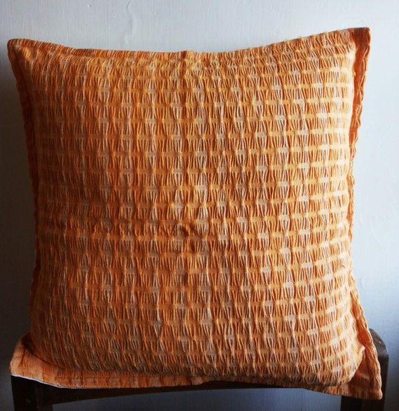 Decorative Pillows Covers 18x18 : Items similar to Decorative Throw Pillow cover 18x18 Yellow Orange Throw Pillow Cover Indian ...
