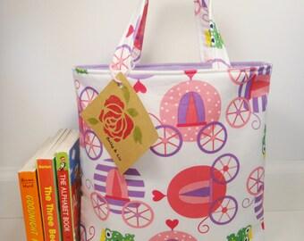 Princess Life Tote Bag, Mini Tote Bag, Toddler Tote Bag, Girls Tote Bag, Princess Purse, Kids Tote Bag