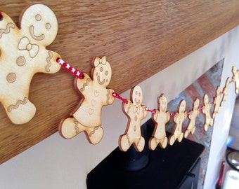 Gingerbread people bunting