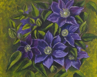 Purple Clematis, Blue Clematis, Purple Flowers