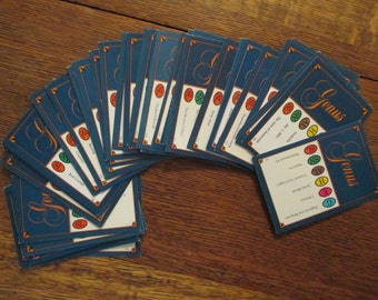 Set of 50 1981 Genus Edition Trivial Pursuit cards - Horn Abbot Ltd. Vintage Trivial Pursuit Card Game, Trivia Game, 1980s Trivia Cards