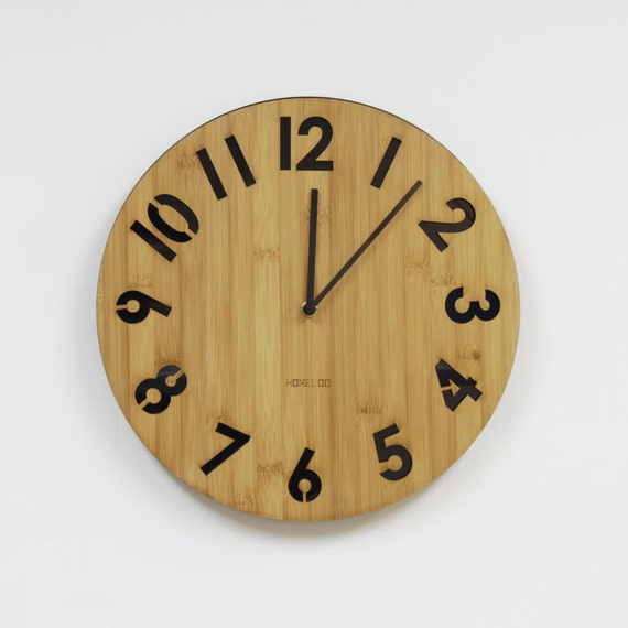 Modern All Numbers Wall Clock Black by