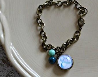 Ampersand charm bracelet