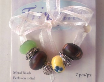 Sale 10% off~Trinkettes Metal Beads / Large Hole Beads
