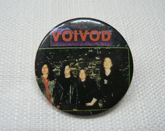 Vintge Late 1980s Voivod - Pin / Button / Badge (Date Stamped 1988) Canadian Heavy Metal