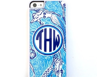 Blue Mermaid Phone Case. Monogrammed Cell Case. Mermaid Phone case iPhone 5,5s,5c,6 6 plus.
