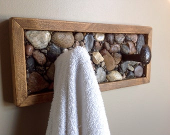 Rustic towel rack or coat rack