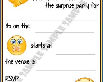 Surprise Birthday Party Invitations / Invites