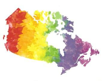 Maple Leaf Pride postcard - Canada