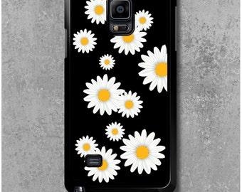Samsung Galaxy Note 4 Case Flowers Daisy