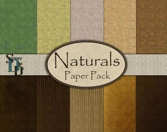 Naturals- Digital Paper Pack