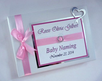Personalised Christening/ Communion/ Naming Day /Guest Book - ANY COLOUR