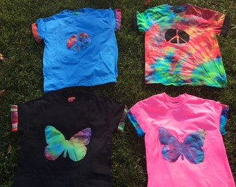 Peace clothing butterfly and peace sign designs